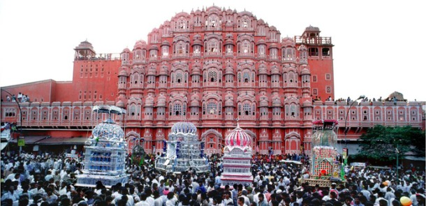 Muharram Procession in front of Hawa Mahal-Jaipur